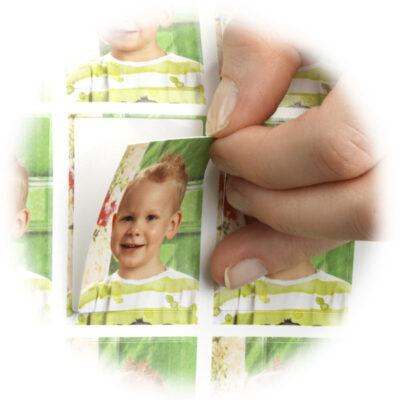Sticker mit Kleber